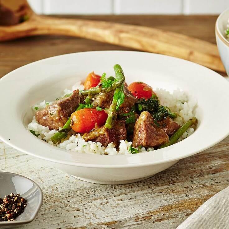 Mint lamb and Rice