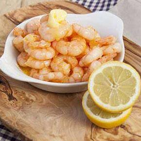 King Prawns served with Fresh Lemon
