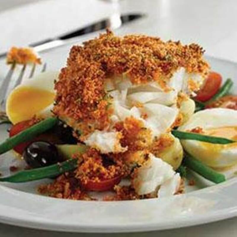 Roast Pollock with Herb Crust