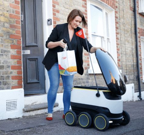 Just Eat & Starship Technologies deliver world's first takeaway meal by robot