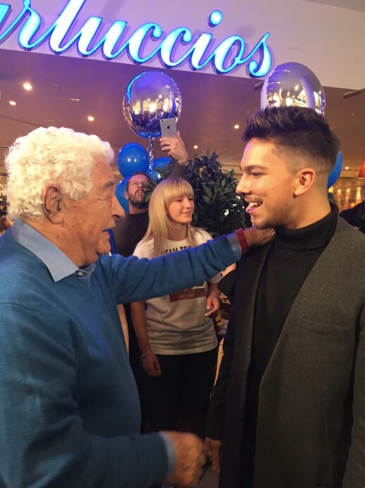Carluccios celebrates former waiter X-Factor win