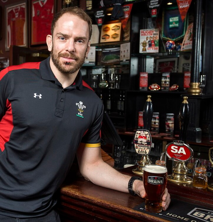 SA Brain creates new beer with Wales rugby captain