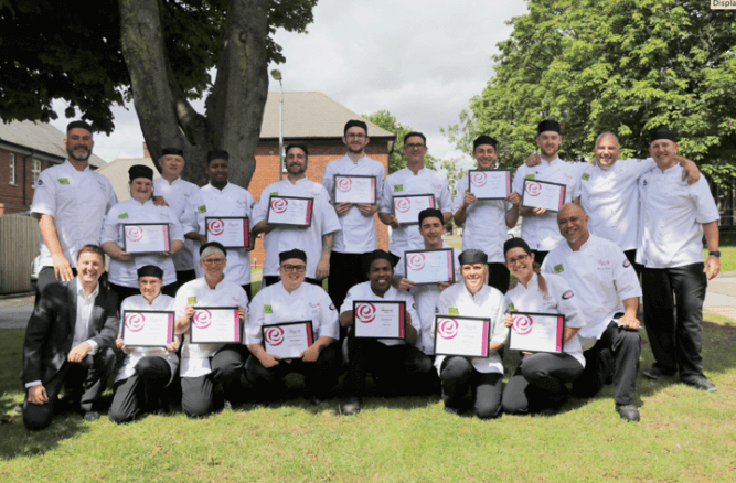 Sixteen graduate from Elior's Chef School
