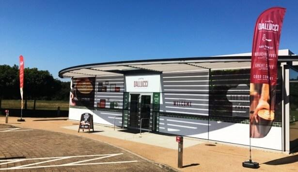 Compass opens first public café