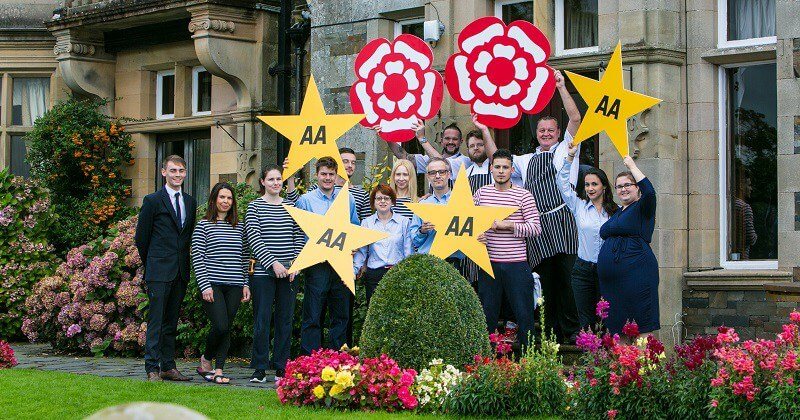 Thwaites Windermere hotel celebrates four star AA rating & two AA Rosettes