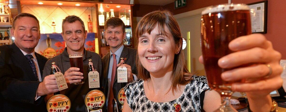 Ei Group's exclusive Royal British Legion beer available to publicans this week