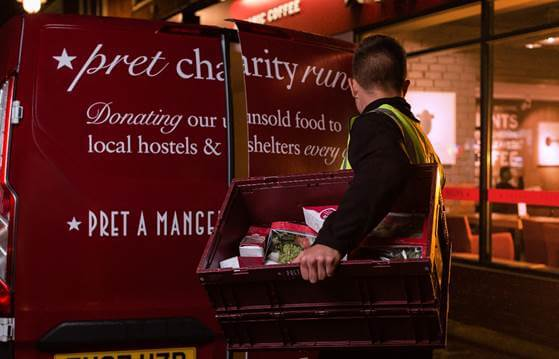 Pret's Xmas sandwiches delivered first to homeless charities