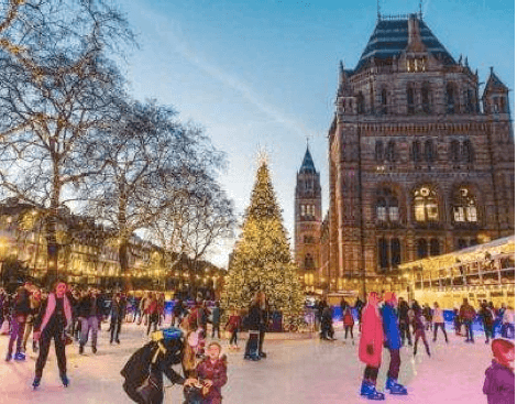 Scoff & Banter partners with Natural History Museum Ice Rink for ultimate festive treat