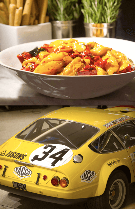 Rocket Food caters for Ferrari show launch party at Design Museum