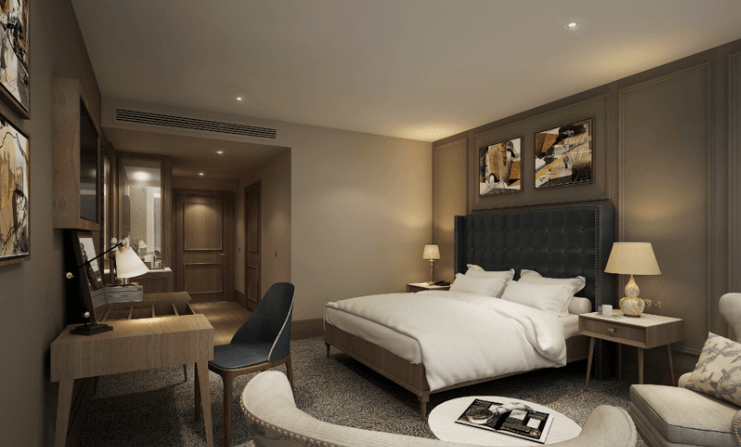 York 5 star hotel reveals first look of new bedrooms for Design hotel 4 stars