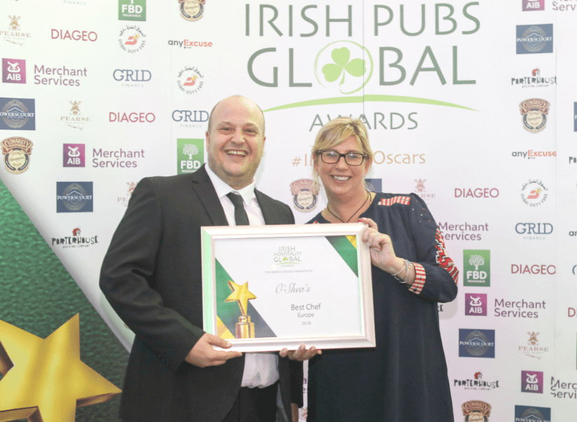 Irish pub in Manchester wins award for Best Chef in Europe