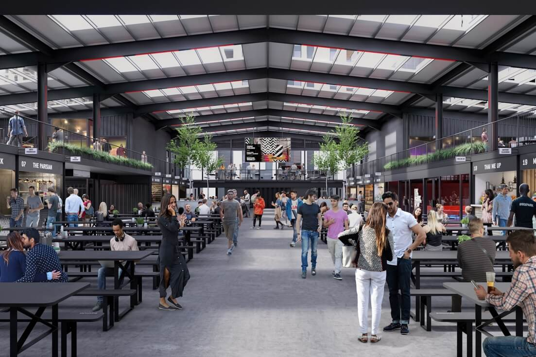 Boxpark Wembley offers affordable kitchen solutions to indie food vendors