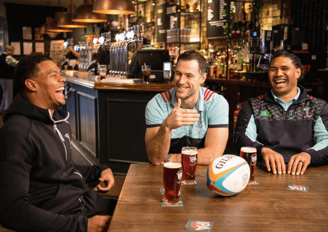 Harlequins stars join Greene King to celebrate sporting moment poll